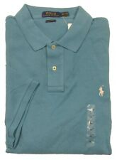 Polo Ralph Lauren Men's Blue Teal Classic Fit Mesh Short Sleeve Polo Shirt