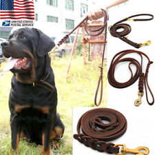 Dog Leash Adjustable Leashes Harness Walking Hand Leather Strap Training Walking