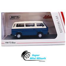Schuco 1:64 - VW T3 Bus (Blue) - Diecast Model Car
