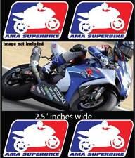 AMA SUPERBIKE 4x DECALS Sportbike sponsor logos Belly pan MOTO GP FREE SHIPPING