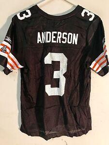 Reebok Women's NFL Jersey Cleveland Browns Derek Anderson Brown sz L
