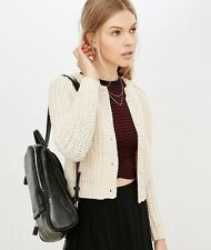 NWT XS UNIF X Urban Outfitters Chloe Cream Knit Long Sleeve Cardigan Sweater