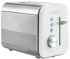 Breville High Gloss VTT686 2-Slice Toaster Lift & Look Cool Wall White Toaster