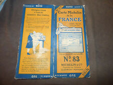 carte michelin 83 carcassonne nimes  1925 Bibendum Michelin cigare