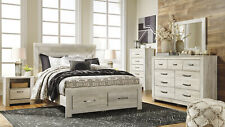 NEW Modern Cottage White Finish 5 piece Bedroom Set w/ King Size Storage Bed A1D
