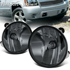 for 07-13 Chevy Avalanche Suburban Tahoe GMC Smoke Bumper Fog Lights Lamps+Bulbs