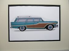 1958 Edsel Bermuda Wagon    Artist art Auto Museum Full color  Illustrated
