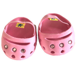 BUILD A BEAR PINK CROCS Jewels SHOES