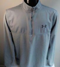 Under Armour Coldgear 1/4 Zip Pullover Gray Sz Xl Polyester