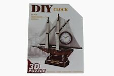 SEALED Calebou 3D DIY Puzzle : SAILBOAT ALARM CLOCK Model No. 2807G – 45 Piece