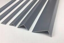 UNEQUAL GRAY  PLASTIC PVC CORNER 90 DEGREE ANGLE TRIM 1 METRE VARIOUS SIZES