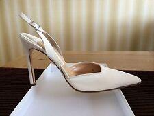 Gina Of London, Cream Silk Slingback UK 71/2/EU40