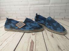 REPLAY MEN'S Beach Shoes original blue jeans Trainers Blue Orient UK Size 10