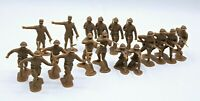 Lot of 20 Reissue MARX Tan Playset Troops Soldiers, Generals,