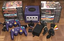 Nintendo GameCube (Indigo) Lot With 23 Games, 2 Controllers, & Memory Card