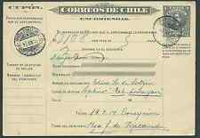 Chile 1914 Boletín de Encomienda Parcel post 1 peso Albano USED