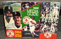 BOSTON RED SOX 1984 1985 1986 MEDIA GUIDES LOT OF 3 DIFFERENT