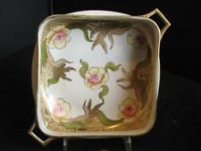 Vintage Imperial Hand Painted Nippon Handled Bowl Heavy Gold Decoration