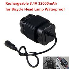 Waterproof 8.4V 12000mAh 4x18650 Battery Rechargeable Pack For Bicycle Headlight