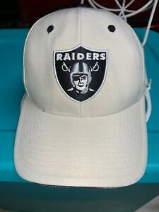 Nice Oakland/Las Vegas Raiders Ivory/Cream Baseball Cap Hat Front Logo OSFA