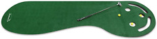 New listing 3 Hole Portable Golf Putting Mat Green Regular Non-Skid Surface Indoor Sports