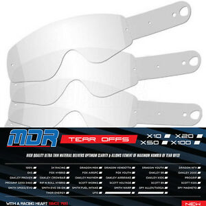 100 X MDR TEAR-OffS for Oakley AIRBRAKE Motocross Goggles