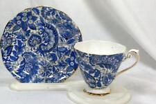 Royal Standard Blue Paisley #1455 Tea Cup And Saucer Set