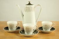 Kaffeekanne mit 3 Tassen Schönwald Form 511 Porzellan Service Löffelhardt 50er
