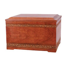 Wood Cremation (Wooden Urns) - Cherry Sculpted Memory Chest with Urn