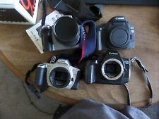 4 canon camera lot eos elan 7n eos rebel eos 650 rebel 2000 read description
