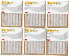 "6-PK 20""x20""x1"" 3M Filtrete MPR Rating 250 Pleated Air Furnace Filter 182003 x6"