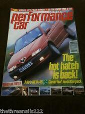 PERFORMANCE CAR - ALFA 145 CLOVERLEAF - MARCH 1996