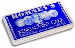 Kendal Mint Cake Romney's White Kendal Mintcake 1x 170gram bar in a Tin