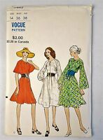 Vogue 7982 Vintage Loose fitting Semi Tent Dress Sewing Pattern Sz 14 Uncut 1971
