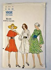 Vogue Vintage 7982 Loose fitting Semi Tent Dress Sewing Pattern Sz 14 Uncut 1971