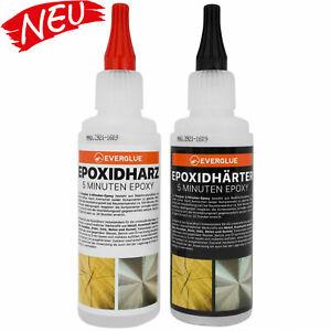 2 Komponenten Kleber Epoxidharz Epoxidkleber klar 5 Min 200g 1:1 Mischung