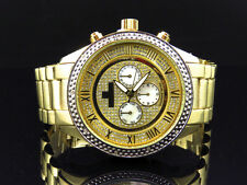 Mens Gold 45 MM Victory Bezel Diamond Watch from Icetime Victory-Y (.10 Ct)