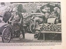 a1l ephemera 1917 ww1 picture american motor bike despatch rider and pigeon