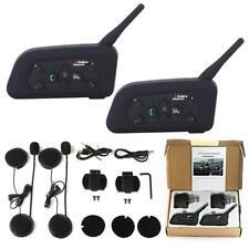 Motorcycle Bluetooth Helmet Intercom Interphone Wireless Multi Headsets 1200M FV