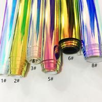 45X137CM Mirror Laser Leather Fabric Radium Film Holographic Bag DIY Material