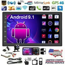 2DIN 7in Android 9.1 Car Stereo MP5 Player GPS Navi WiFi BT USB FM Radio +Camera
