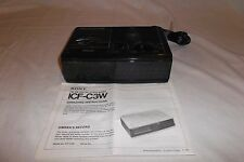 Vintage Sony Dream Machine Alarm Clock (ICF-CW3) Black - Works - Great Condition