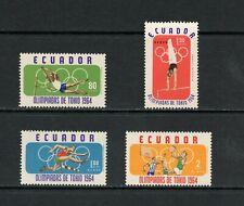 S911  Ecuador 1964   Tokyo Olympics   4v.    MNH