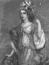 LONDON. Lady Castlemaine. Ireland 1888 old antique vintage print picture