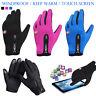 Men Women Screen Windproof Water Splash-proof Outdoor Warm Drive Gloves