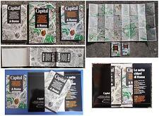 CAPITAL: mappa monumentale di Roma vista dall'alto, con guida turistica allegata