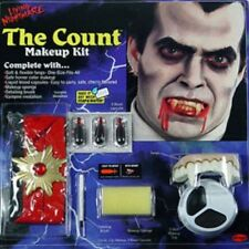 Vampire Dracula The Count Make Up Kit Halloween Face Paint Set Fancy Dress P5457