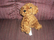 2006 NINTENDO DOGS PLUSH DOLL FIGURE NINTENDOGS SMALL BROWN PUPPY MOVEABLE HEAD