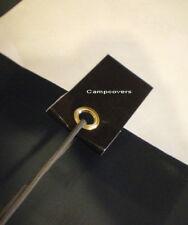 4 Black Heavy Duty Peel & Stick Grommet Tabs for Tarp & Tents