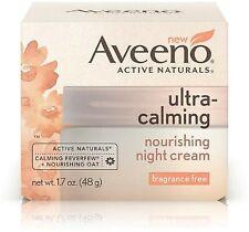 Aveeno Naturals Ultra-Calming Nourishing Night Cream, Fragrance Free 1.70 oz 4pk